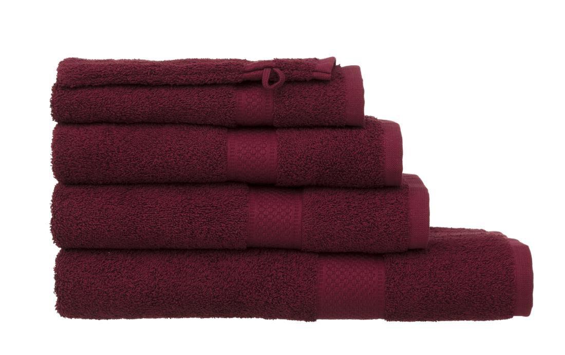 HEMA Handdoeken - Zware Kwaliteit Donkerrood (donkerrood)