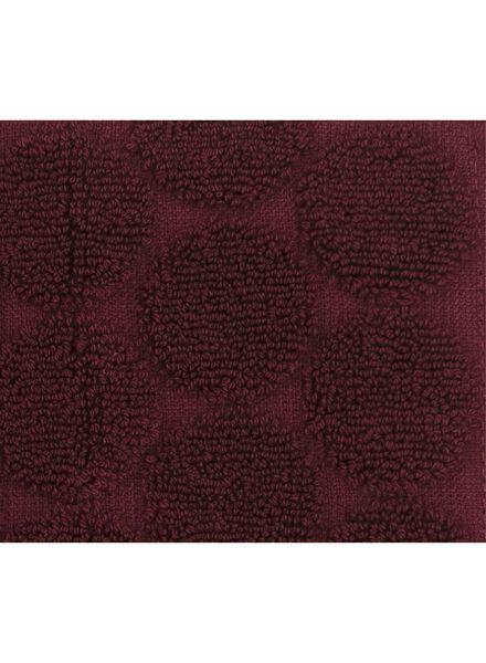 handdoek -  50 x 100 cm -  zware kwaliteit - bordeaux stip donkerrood handdoek 50 x 100 - 5220008 - HEMA
