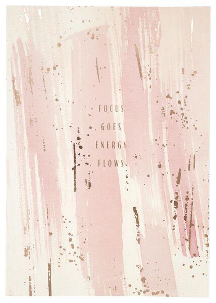 schrift 25.5x18 gelinieerd roze - 14120061 - HEMA