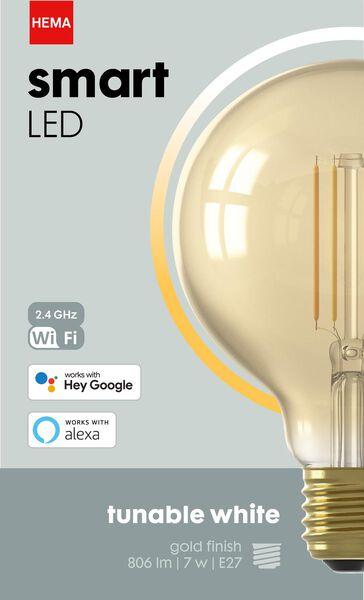 smart LED lamp 7W - 806 lm - globe - goud - 20000030 - HEMA