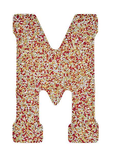melkchocoladeletter M met discodip - 10030592 - HEMA