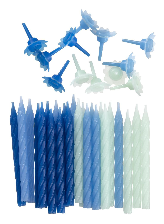 HEMA 24-pak Taartkaarsjes (blauw)