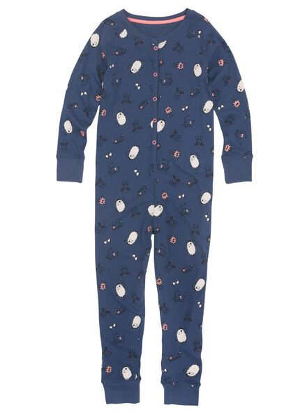 kinder jumpsuit blauw blauw - 1000009234 - HEMA