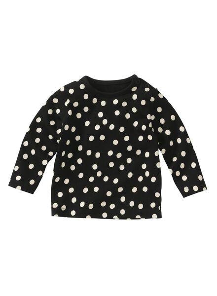 baby t-shirt zwart - 1000008594 - HEMA