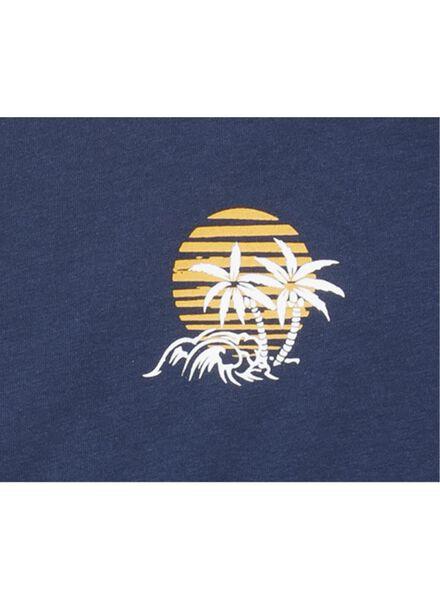 heren t-shirt blauw blauw - 1000013411 - HEMA