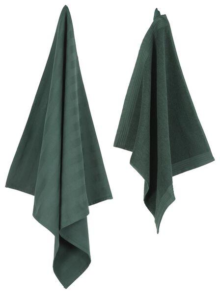 keukendoek - 50 x 50 - katoen - groen keukendoek groen - 5410037 - HEMA