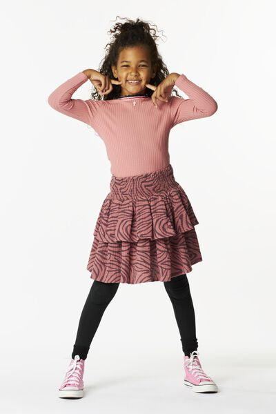 kinder t-shirt rib roze 134/140 - 30847642 - HEMA