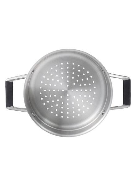 stoominzet - Ø 20 cm - Milano - zilver stoominzet 20 cm Milano - 80152027 - HEMA