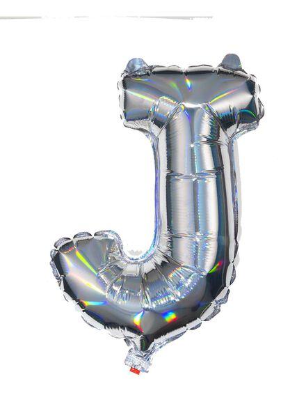 folieballon J - zilver J zilver - 60800441 - HEMA