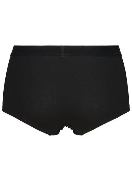 dameshipster fluweel katoen zwart zwart - 1000014531 - HEMA