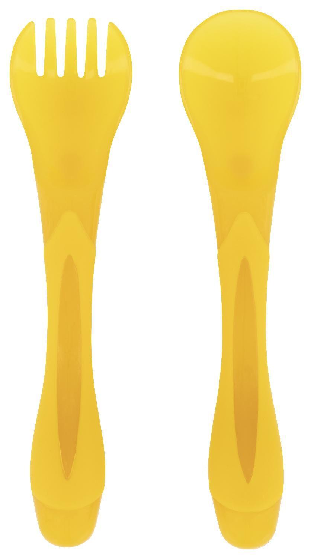 HEMA Baby Bestekset 2-delig (geel)