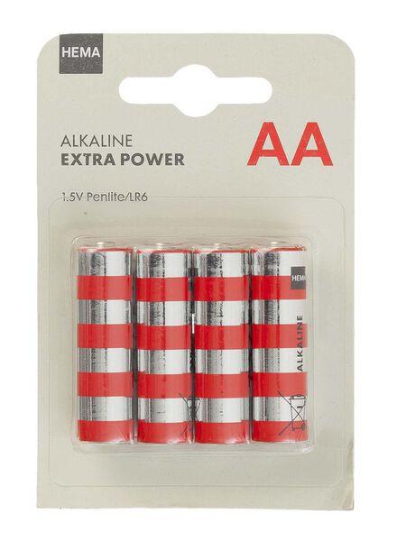 4-pak AA batterijen - 41210529 - HEMA