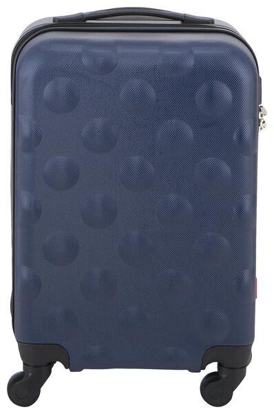 Koffer - 55x35x20 - structuur - donkerblauw