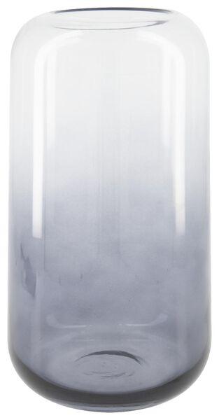 vaas Ø14x28 - grijs glas - 13322017 - HEMA