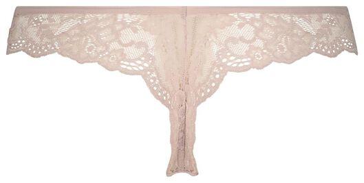 damesstring kant micro roze roze - 1000021497 - HEMA