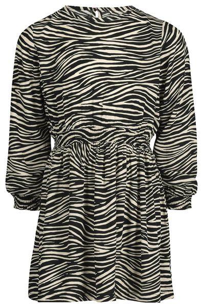 kinderjurk zebrastrepen zwart/wit - 1000020539 - HEMA