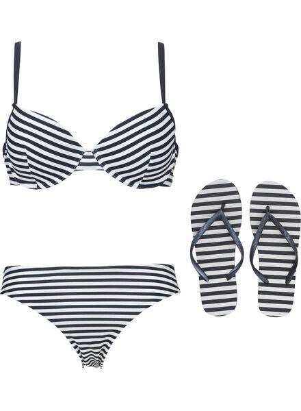 dames bikinitop padded met beugel D+ blauw blauw - 1000011806 - HEMA