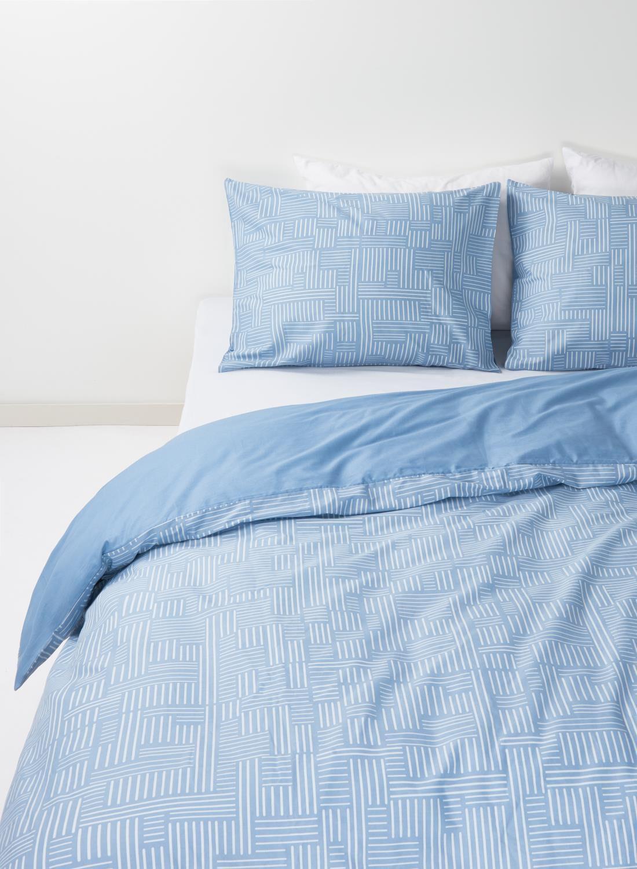 HEMA Dekbedovertrek – Zacht Katoen – 240 X 220 Cm – Blauw Print (bleu)