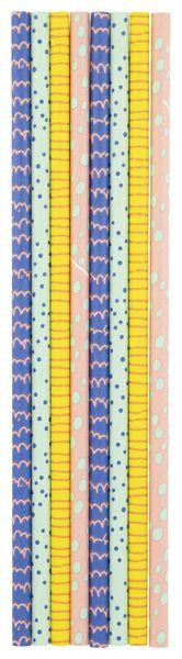 papieren rietjes - 20 cm - verjaardag - 20 stuks - 14230178 - HEMA