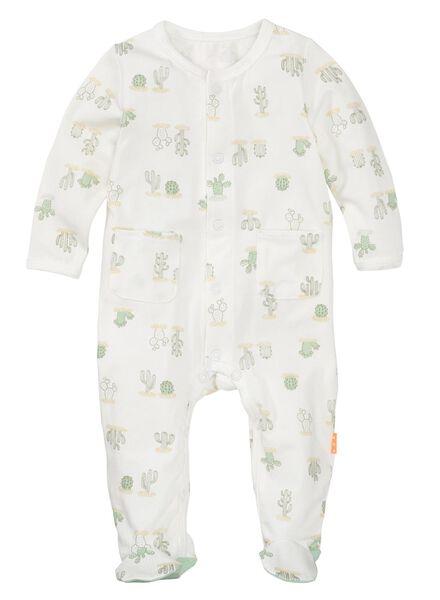 newborn baby jumpsuit bamboe wit wit - 1000012115 - HEMA