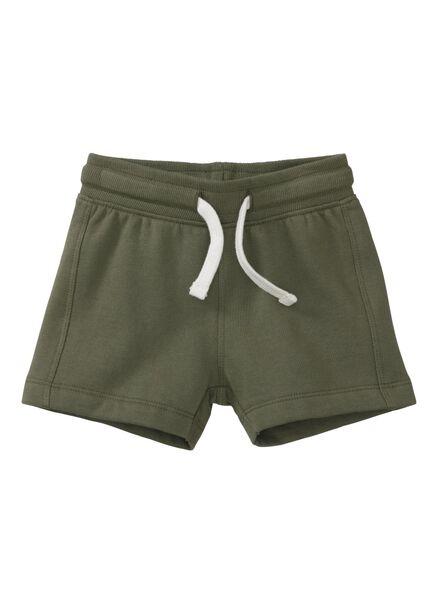 baby korte broek donkergroen donkergroen - 1000007999 - HEMA