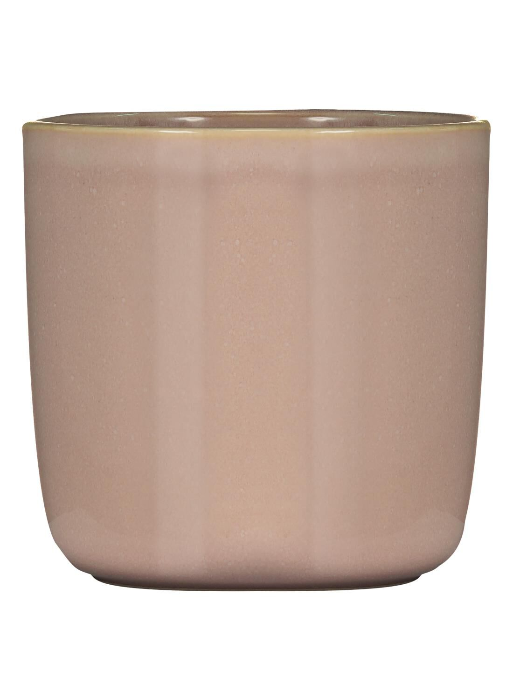 HEMA Bloempot – 13 X Ø 12.5 Cm – Roze Reactief Glazuur (Pink)