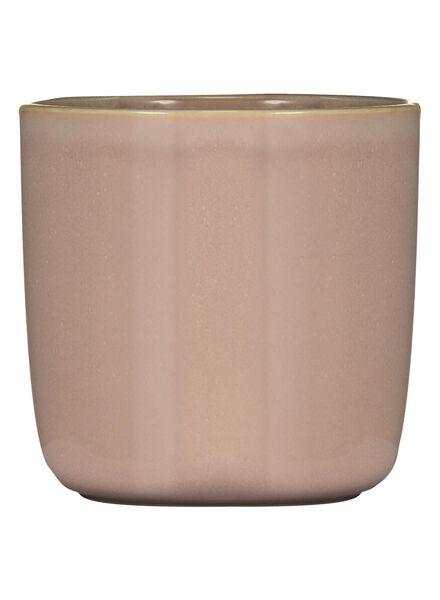 bloempot Ø 12.5 cm - reactief glazuur - roze - 13391060 - HEMA