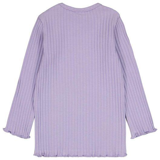 baby t-shirt rib lila lila - 1000024457 - HEMA