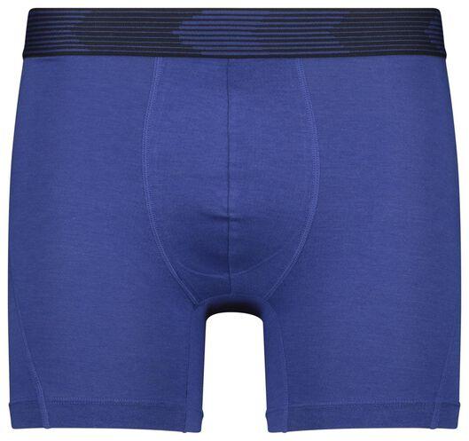 herenboxers lang - katoen/bamboe/stretch 2 stuks blauw blauw - 1000022802 - HEMA