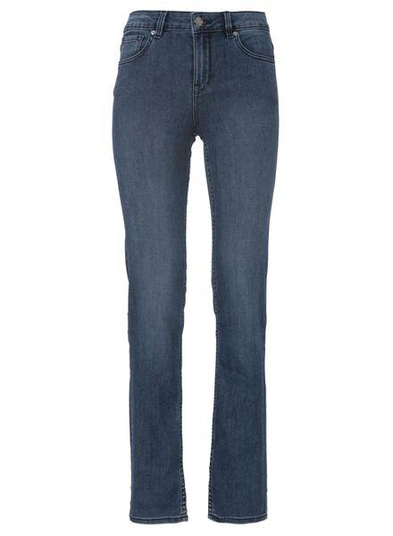 dames jeans straight leg middenblauw middenblauw - 1000011820 - HEMA