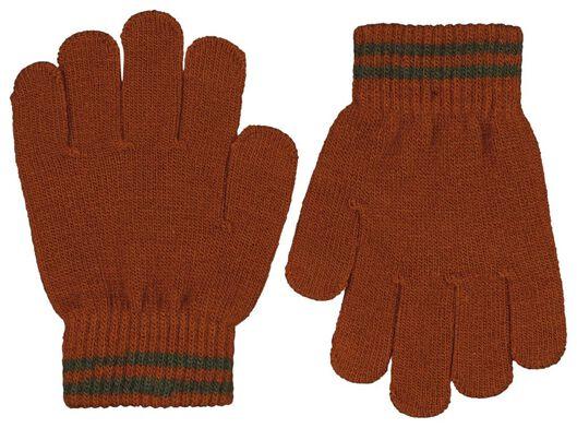 kinder handschoen gebreid - 2 paar donkergroen donkergroen - 1000025237 - HEMA
