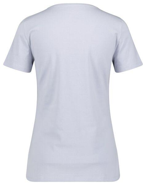 dames t-shirt lichtblauw S - 36324781 - HEMA