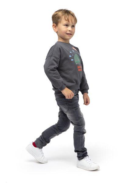 kindersweater donkergrijs donkergrijs - 1000015020 - HEMA