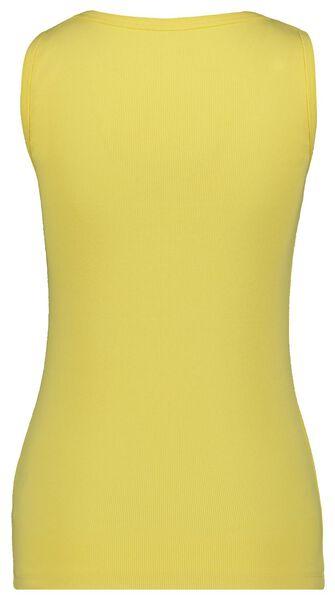 dames tanktop rib geel L - 36272363 - HEMA
