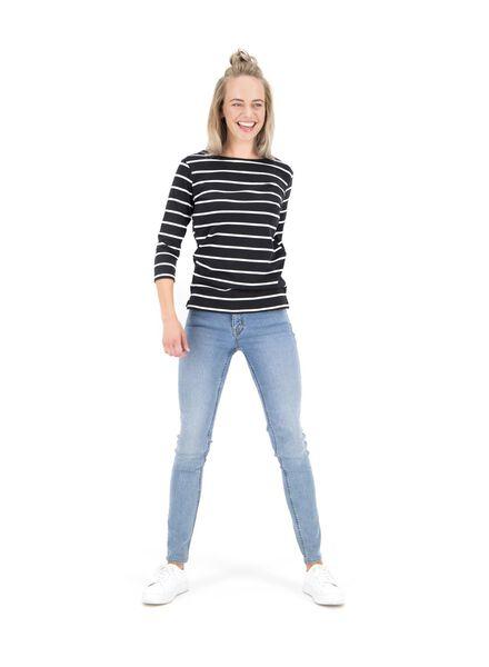 dames top zwart/wit - 1000014799 - HEMA