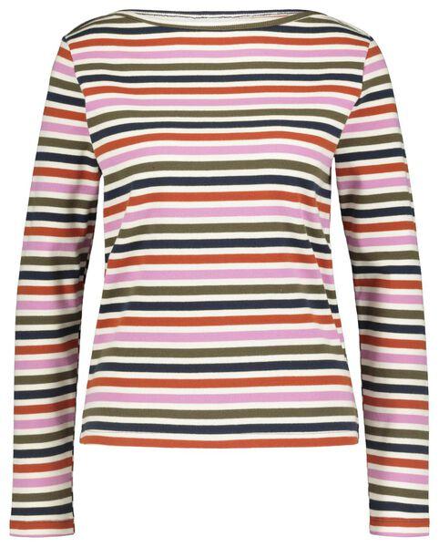 dames t-shirt multicolor L - 36268217 - HEMA