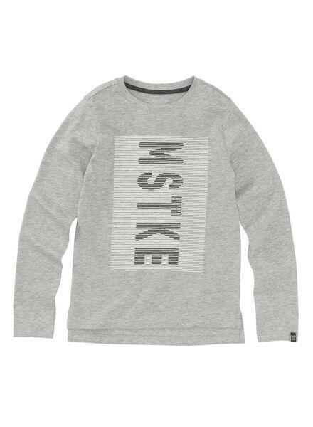 kinder t-shirt middengrijs middengrijs - 1000009115 - HEMA