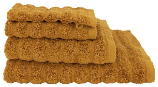 handdoeken - hotel extra zwaar - structuur donkeroranje donkeroranje - 1000022053 - HEMA
