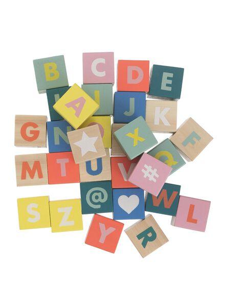 houten alfabet blokken - 15122222 - HEMA