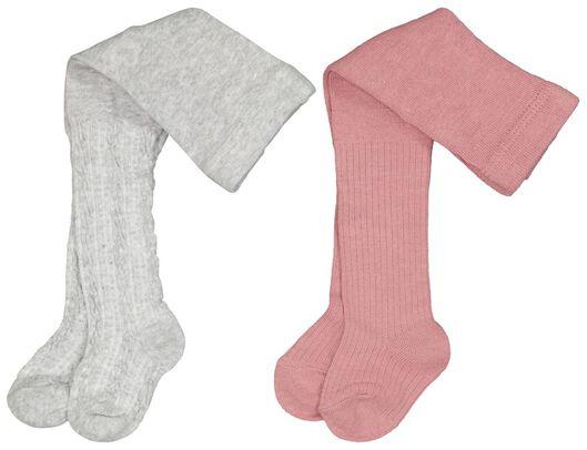 baby maillots rib - 2 paar roze 68 - 4723718 - HEMA