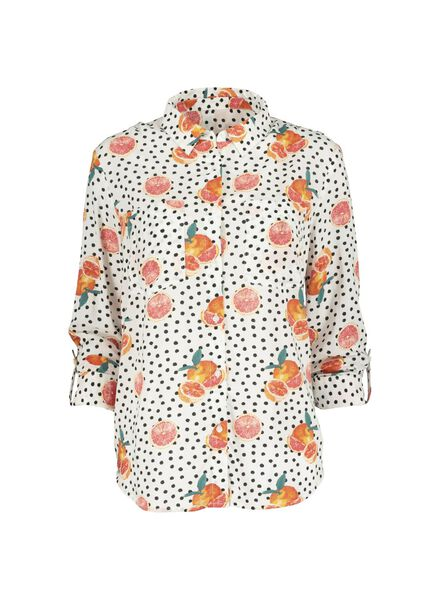 damesblouse oranje oranje - 1000013800 - HEMA