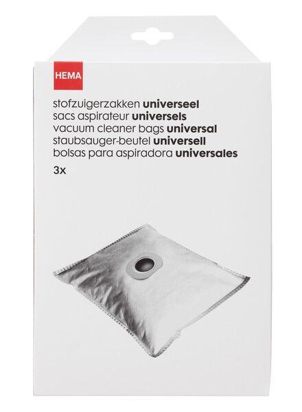 3-pak stofzuigerzakken universeel - 20560306 - HEMA