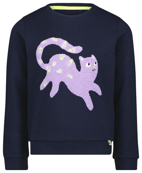 kindersweater badstof kat donkerblauw donkerblauw - 1000024985 - HEMA