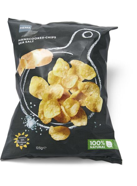 handcooked chips seasalt - 10661123 - HEMA