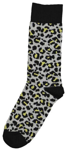 sokken voor volwassenen - mini-me grijs grijs - 1000019298 - HEMA