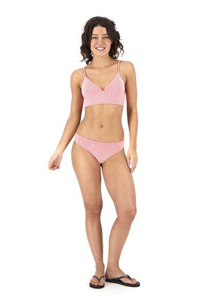 dames padded triangle bikinitop roze roze - 1000017950 - HEMA