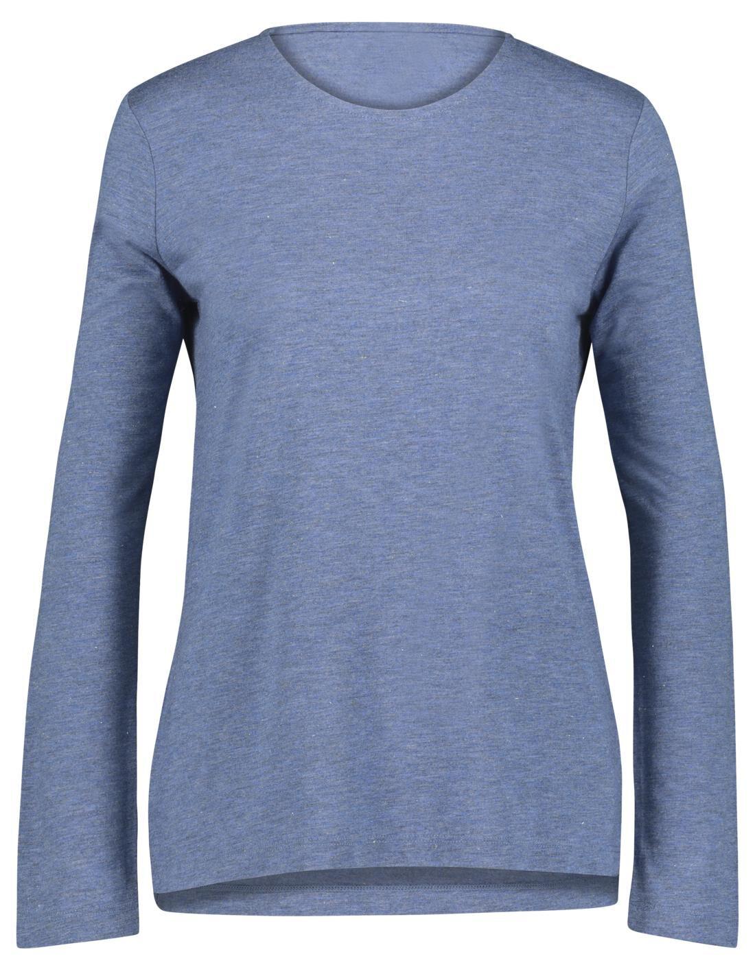 HEMA Dames T-shirt Met Glitter Blauw (blauw)