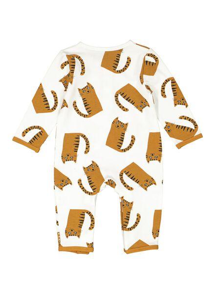 newborn jumpsuit - biologisch katoen gebroken wit gebroken wit - 1000014182 - HEMA