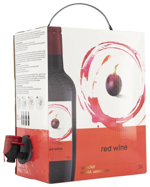 huiswijn rood bag-in-box - 3 L - 17360100 - HEMA