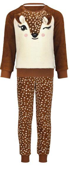 kinderpyjama fleece bambi bruin bruin - 1000025333 - HEMA
